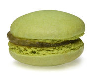 Grünes Macaron Stockfotografie
