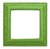 Grünes quadratisches modernes vibrierendes farbiges leeres Feld Stockbilder