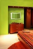 Grünes Schlafzimmerdetail Lizenzfreies Stockfoto