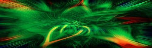 Grünes Turbulenzpanorama Stockfotos