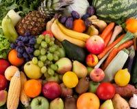 Grönsaker och frukter Fotografering för Bildbyråer