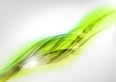 Grönt abstrakt begrepp Arkivbilder