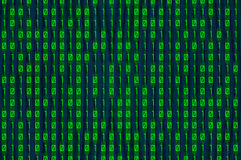 Grönt binärt Arkivfoton