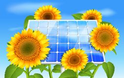 Grönt energiecobegrepp Arkivbilder