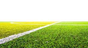 Grönt gräs för fotbollsport Arkivbild