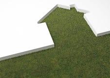 grönt hus för eco Arkivbild