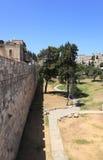 Grönt trädgårds- utanför väggarna, Jerusalem Royaltyfri Fotografi