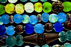 Grânulos de vidro Fotografia de Stock