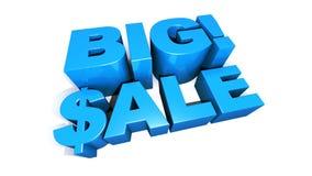 Groß! Animation des Verkaufs-riesige grafische Text-3D stock abbildung