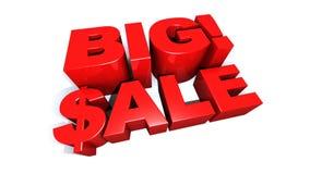 Groß! Animation des Verkaufs-riesige grafische Text-3D lizenzfreie abbildung