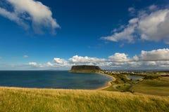 Großartige Ansicht der Nuss, des Bass Straits, der Strände und des Stadt-nam Lizenzfreie Stockfotografie