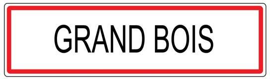 Großartige Bois-Stadt-Verkehrszeichenillustration in Frankreich Stockfotos