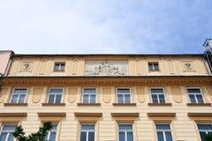 Großartige Fassade quadratischen Gebäudes Krakaus Lizenzfreies Stockfoto