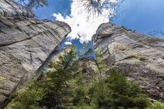 Großartige Felsen in der Felsen-Stadt Ardspach, Tschechische Republik Lizenzfreie Stockfotos