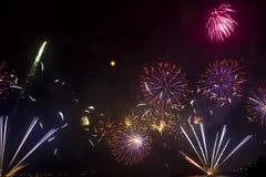 Großartige Feuerwerke Lizenzfreies Stockbild