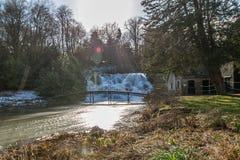 Großartige Kaskade und Wasserfälle von Blenheim-Palast in Oxfordshire, Stockfotos