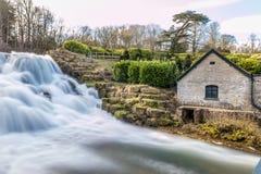 Großartige Kaskade und Wasserfälle von Blenheim-Palast in Oxfordshire, Stockfoto