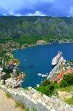 Großartige Kotor-Buchtansicht, Montenegro Lizenzfreie Stockfotografie
