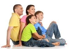 Großartige Leute in den hellen T-Shirts Lizenzfreies Stockfoto
