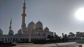 Großartige Moschee Abu Dahbi Lizenzfreie Stockbilder