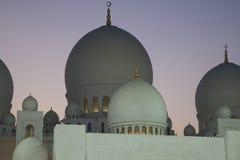 Großartige Moschee, Abu Dhabi Stockfotos