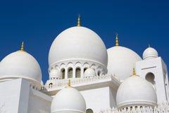 Großartige Moschee Abu Dhabi Sheikh Zayed Whites, Vereinigte Arabische Emirate Lizenzfreie Stockfotos