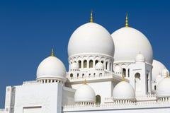 Großartige Moschee Abu Dhabi Sheikh Zayed Whites, Vereinigte Arabische Emirate Stockbilder