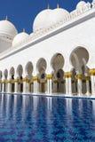 Großartige Moschee Abu Dhabi Sheikh Zayed Whites, Vereinigte Arabische Emirate Stockbild