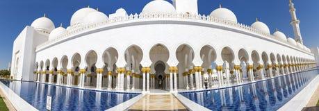 Großartige Moschee Abu Dhabi Sheikh Zayed Whites, Vereinigte Arabische Emirate Lizenzfreie Stockfotografie