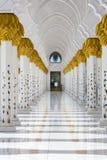 Großartige Moschee Abu Dhabi Sheikh Zayed Whites, Vereinigte Arabische Emirate Stockfotografie