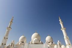 Großartige Moschee Abu Dhabi Sheikh Zayed Whites, Vereinigte Arabische Emirate Lizenzfreies Stockbild