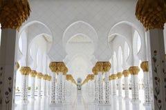 Großartige Moschee Abu Dhabi Sheikh Zayeds Lizenzfreie Stockfotos