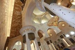 Großartige Moschee Abu Dhabi Sheikh Zayeds Stockfotografie