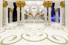 Großartige Moschee in Abu Dhabi, UAE Stockfotos