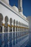 Großartige Moschee in Abu Dhabi, Vereinigte Arabische Emirate Stockfotos