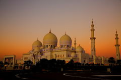 Großartige Moschee an der Dämmerung Lizenzfreies Stockbild