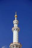 Großartige Moscheenahaufnahme in Abu Dhabi UAE Lizenzfreie Stockfotografie