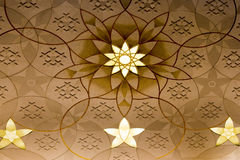 Großartige Moscheenwanddekoration Stockfoto