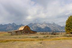 Großartige Nationalpark-Scheune Teton stockbilder