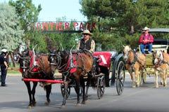 Großartige Parade, Cheyenne Frontier Days Lizenzfreie Stockfotos