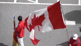 Großartige Parade Festival Coquitlam für multikulturelles mit Zeitlupe stock footage