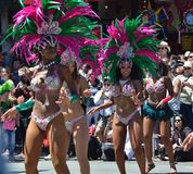Großartige Parade Sans Francisco Carnival 2014 im Auftrag-Bezirk Lizenzfreies Stockbild