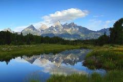 Großartige Teton-Dämmerung Stockfotografie