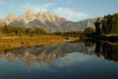 Großartige Teton reflektierende Ansicht Stockfotografie