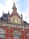 Großartige zentrale Station in Amsterdam.   Stockbild