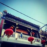 Großartiger alter chinesischer Gebäudetempel Lizenzfreies Stockfoto