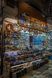 Großartiger Basar in Istanbul, die Türkei Lizenzfreies Stockbild