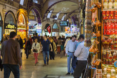 Großartiger Basar ISTANBUL, DIE TÜRKEI - 6. MAI 2016 Lizenzfreies Stockfoto