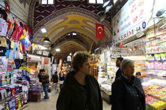 Großartiger Basar kauft in Istanbul Lizenzfreies Stockbild