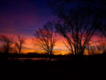Großartiger der Colorado-Winter-Sonnenaufgang Lizenzfreie Stockfotos